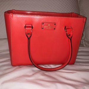 Kate Spade orange square handle bag
